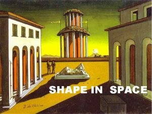 SHAPE IN SPACE CONCEPT OF SPACE CONCEPT OF