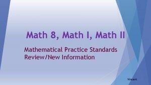 Math 8 Math II Mathematical Practice Standards ReviewNew