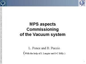MPS aspects of Vacuum commissioning MPS Comm WG