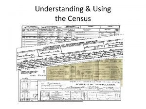 Understanding Using the Census Background 1800 Census Act