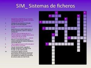 SIM Sistemas de ficheros 1 3 9 1