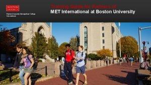 Boston University Metropolitan College International Boston University Metropolitan