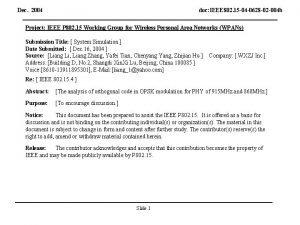 Dec 2004 doc IEEE 802 15 04 0628