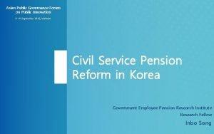 Asian Public Governance Forum on Public Innovation 9