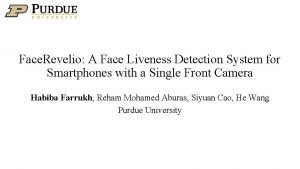 Face Revelio A Face Liveness Detection System for
