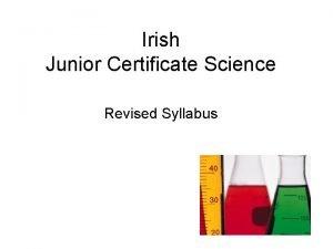 Irish Junior Certificate Science Revised Syllabus Current Syllabus