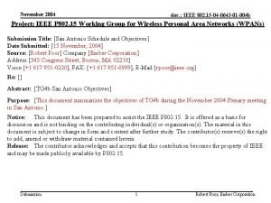 November 2004 doc IEEE 802 15 04 0643