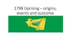 1798 Uprising origins events and outcome Origins of