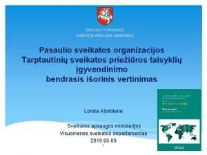 Pasaulio sveikatos organizacijos Tarptautini sveikatos prieiros taisykli gyvendinimo