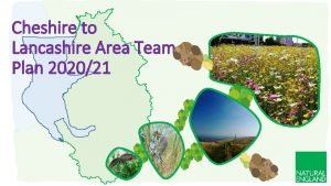 Cheshire to Lancashire Area Team Plan 202021 An