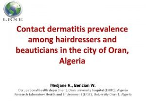 Contact dermatitis prevalence among hairdressers and beauticians in