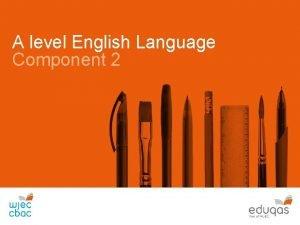 A level English Language Component 2 Language Change