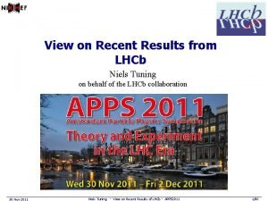 View on Recent Results from LHCb Niels Tuning