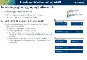Installasjonshndbok LAN og WLAN Montering og omlegging ny