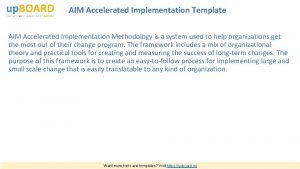 AIM Accelerated Implementation Template AIM Accelerated Implementation Methodology