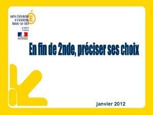 janvier 2012 Pistes de rflexion pour accompagner votre