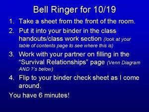 Bell Ringer for 1019 1 Take a sheet