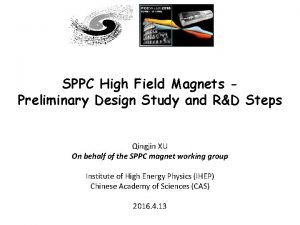 SPPC High Field Magnets Preliminary Design Study and
