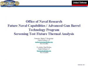 Office of Naval Research Future Naval Capabilities Advanced