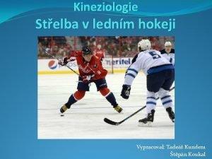 Kineziologie Stelba v lednm hokeji Vypracoval Tade Kundera