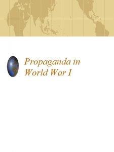Propaganda in World War I Total War Countries