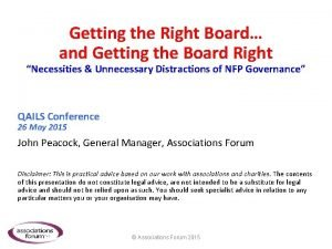 Getting the Right Board and Getting the Board