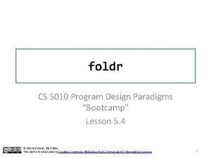 foldr CS 5010 Program Design Paradigms Bootcamp Lesson