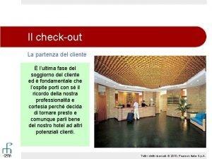 Il checkout La partenza del cliente lultima fase