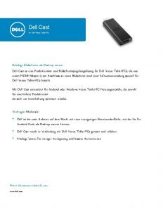 Dell Cast Fr Dell Venue TabletPCs Beliebige Bildschirme