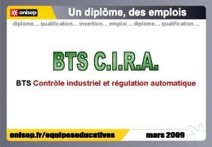 diplme qualification insertion emploi diplme qualification BTS Contrle