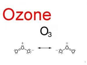 Ozone 1 Ozone Two Faces Troposphere Bad Ozone