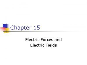 Chapter 15 Electric Forces and Electric Fields Clicker