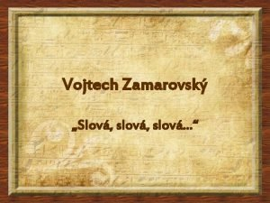 Vojtech Zamarovsk Slov slov Sumeri alebo Sumerovia boli
