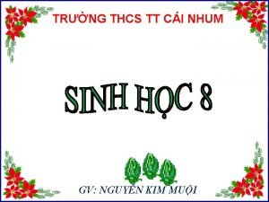 TRNG THCS TT CI NHUM GV NGUYN KIM