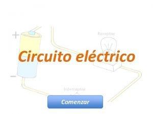 Circuito elctrico Comenzar Circuito elctrico Un circuito elctrico