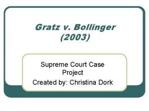 Gratz v Bollinger 2003 Supreme Court Case Project