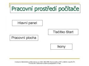 Pracovn prosted potae Hlavn panel Tlatko Start Pracovn