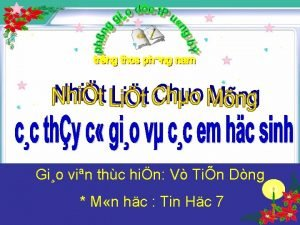 Gio vin thc hin V Tin Dng M