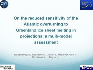 On the reduced sensitivity of the Atlantic overturning