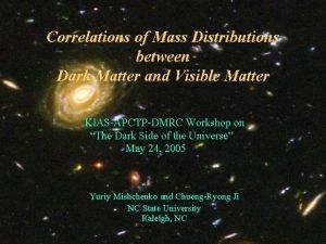 Correlations of Mass Distributions between Dark Matter and