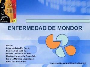 ENFERMEDAD DE MONDOR Autores Inmaculada Ban Garca Daniel