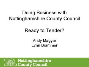 Doing Business with Nottinghamshire County Council Ready to