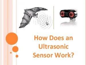 How Does an Ultrasonic Sensor Work Ultrasonic Sensor