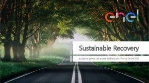 Sustainable Recovery Audizione presso la Camera dei Deputati