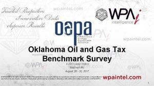 Oklahoma Oil and Gas Tax Benchmark Survey n503