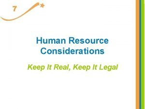 7 Human Resource Considerations Keep It Real Keep