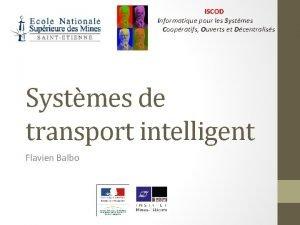 ISCOD Informatique pour les Systmes Coopratifs Ouverts et