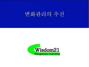 Wisdom 21 Management Consulting Change Management 2008 2005