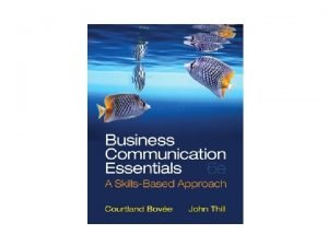 Chapter 1 Understanding Business Communication in Todays Workplace