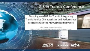 Mapping an AADT for Transit Integrating Transit Service
